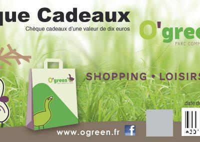Chèques Cadeaux – Retail Parks Supergreen & O'Green