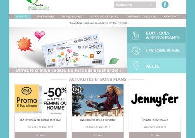 Refonte de site web – Parc des Bouchardes