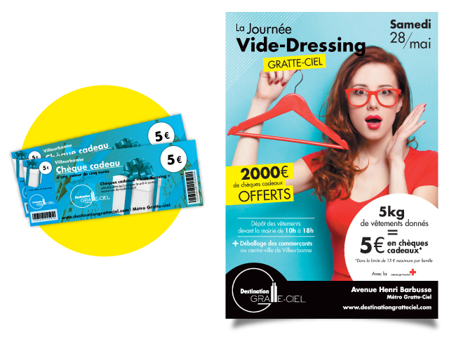 Vide dressing centre commercial
