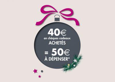 Opérations «Boostez vos ventes de chèques cadeaux»