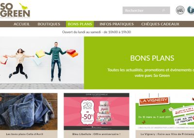 Refonte de site web – Parc So Green