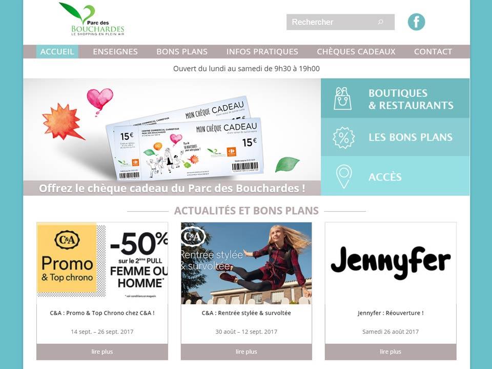 Refonte du site web Parc des Bouchardes